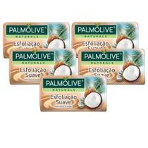 Kit 5 Sabonetes em Barra Palmolive Naturals Esfoliação Suave 150g -