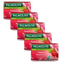 Kit 5 Sabonetes em Barra Palmolive Naturals Segredo Sedutor 85g -