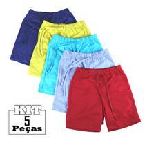 Kit 5 Shorts Bebê Menino Infantil 100% Algodão Atacado - Green Kids