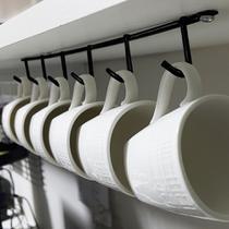 Kit 5 Suportes Porta até 6 Xícaras De Café Suspenso para Parafusar Em Aço preto - Nacional EL