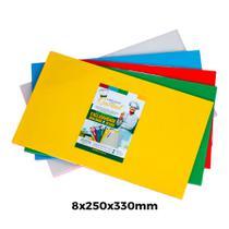 KIT 5 Tábuas de Corte Suporte Polietileno PEAD 08x250x330mm - Cheff Plast