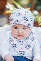 Kit 5 Touca Dupla Bebê Infantil 100% Algodão - Yasmin Bebê