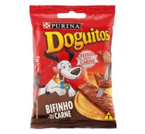 Kit 5 Unidades de Bifinho Doguitos Sabor Carne Purina (cada unidade contêm 65g e 8 bifinhos) -