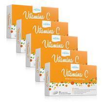 Kit 5 Vitamina C 500mg Ácido Ascórbico Equaliv 30 comprimidos -
