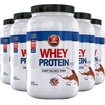Kit 5 whey protein pre midway 1kg chocolate