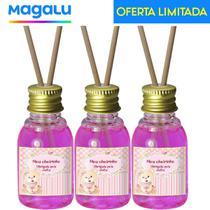 Kit 50 Aromatizador Lembrancinha de Maternidade Chá de Bebê Ursinha - Cheirinho de Bebê Rosa 30ml - Universal