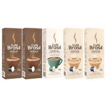 Kit 50 Capsulas Bebida Cafe Brasil Para Cafeteira Nespresso -