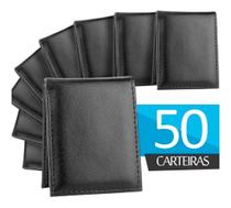 Kit 50 Carteira Masculina Ecologico Slim Neway Couro - Dl shoes