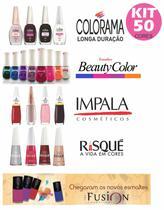 Kit 50 Esmaltes Beaytu Color, Colorama, Risque, Impala e Fusion - Beauty