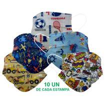 Kit 50 Máscara Descartável Infantil Filtro Meltblown Clipe - Store 7