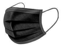 Kit 50 Máscara Infantil Descartável Tripla Camada  Preta - Protector
