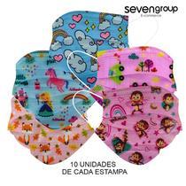 Kit 50 Máscaras Descartáveis Infantil Filtro Meltblown Clipe - Store 7D