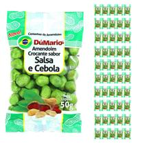 Kit 50 Pacotes Amendoim Crocante Sabor Cebola Salsa 50 gramas - Amendoim dumario