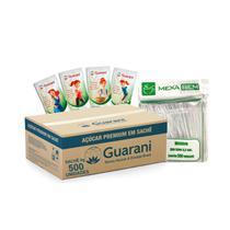Kit 500 açúcar sache 5g Guarani +500 Mexedor 8,5cm Café Suco -