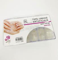 Kit 500 Tips Curvatura C Unha Gel Transparente ou Leitosa Tamanho Padrão - Fan Nails