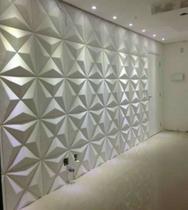 Kit 5M² Revestimento 3D De Parede Mod Estrelar Placas 50X50 - Lu Jpdecoracoes