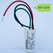 Kit 5un Capacitor 01.5+2.5uF para ventilador c/GL 3 fios - Farol
