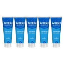 kit 5x acnezil gel esfoliante 80g limpa profundamente poros remove impureza da pele do rosto - Cimed