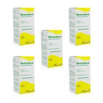 kit 5x benzoederm emulsão benzoato de benzila elimina piolhos lêndeas sarnas 100ml pharmascience - Pharma Science