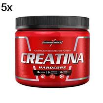 Kit 5X Creatina Hardcore Reload - 150g - IntegralMédica - Integral Médica