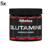 Kit 5X Glutamine Micronized Evolution Series - 300g Glutamina - Atlhetica Nutrition -