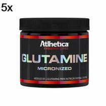Kit 5X Glutamine Micronized Evolution Series - 500g Glutamina - Atlhetica Nutrition -