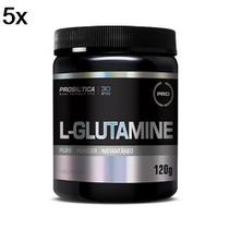 Kit 5X L-Glutamine - 120g - Probiótica -