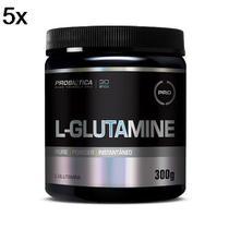 Kit 5X L-Glutamine - 300g - Probiótica -