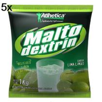 Kit 5X Maltodextrin - 1000g Lima-Limão - Atlhetica Nutrition -