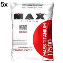 Kit 5X Mass Titanium 17500 - 1400g Refil Leite Condensado - Max Titanium -