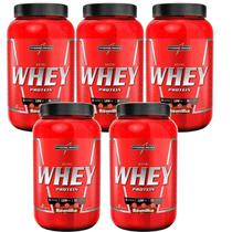 Kit 5X Nutri Whey Protein - 907g Baunilha - IntegralMédica - Integral Médica