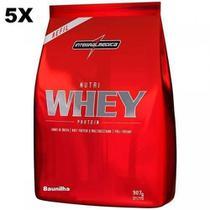 Kit 5X Nutri Whey Protein - 907g Refil Baunilha - IntegralMédica - Integral Médica
