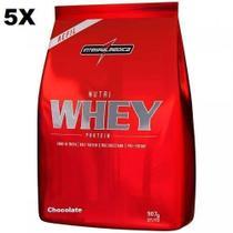 Kit 5X Nutri Whey Protein - 907g Refil Chocolate - IntegralMédica - Integral Médica