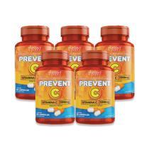 Kit 5x Vitamina C 1000mg Potes 60 Cáps Prevent Pharma -