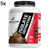 Kit 5X Whey Isolate Definition - 2000g Chocolate - BodyAction