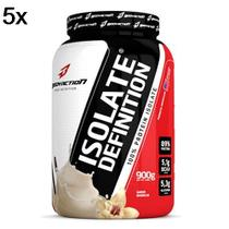 Kit 5X Whey Isolate Definition - 900g Baunilha - BodyAction