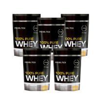 Kit 5x Whey Protein 100% Pure Whey Probiótica Refil 825g -