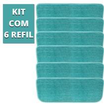 Kit 6 Almofadas Refil Microfibra Vassoura Mop Spray Esfregão Boni -