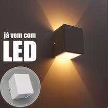 Kit 6 Arandela 2 fachos branca + 6 lâmpadas led g9 5w 3000k parede muro externa e interna st678 - Starlumen