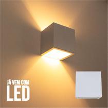 Kit 6 Arandela 2 Fachos Slim Branca + LED G9 5w 3000K Luminária Externa ou Interna St397 - Starlumen
