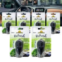 Kit 6 Aromatizante Citrus Perfume Cheirinho Automotivo Autoshine -