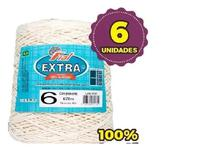 Kit 6 Barbantes Fial Extra Crú 100% Algodão - Fio 6 - 600G -