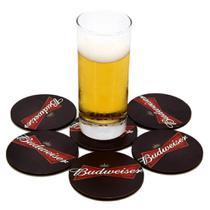 Kit 6 Bolachas Porta Copos Budweiser Cerveja Beer Chopp - D.Lima Produtos