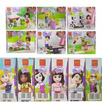 Kit 6 Bonecas Para Montar Infantil Estilo Lego Friends Girls - Spider