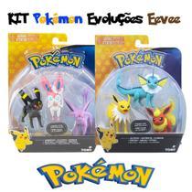 Kit 6 Boneco Pokémon Evoluções Eeevee - Tomy -