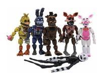 Kit 6 Bonecos Five Nights At Freddys Articulados + Bolsa - Super25