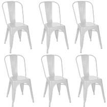 Kit 6 Cadeiras Tolix Branca - Gardenlife