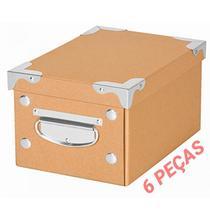 Kit 6 Caixa Organizadora com Alça OR52500 Monta Fácil Kraft P Porta Objetos E Acessórios Ordene - Ordene s/a