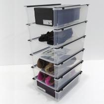 Kit 6 Caixa Organizadora para Sapatos Modelo Empilhável Multiuso OR60800 Ordene Brinquedos Acessórios - Ordene s/a