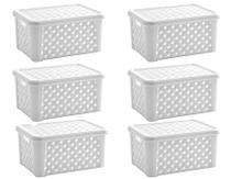 Kit 6 Caixas Organizadoras Plastico 5 Litros C/Tampa Branco - Paramount
